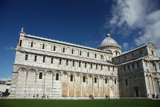 Leaning Tower Of Pisa Cathedral Royalty Free Stock Photography