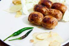 Free Sai Krawk E-san,thai Food Royalty Free Stock Photo - 20461195