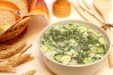 Free Cold Soup Okroshka Royalty Free Stock Photo - 20461305
