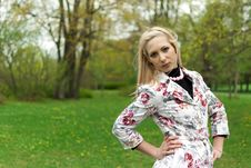 Free Portrait Of Blonde Girl In The Park Stock Photos - 20461483