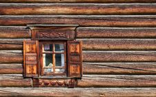 Window In The Old Wooden House Royalty Free Stock Photo