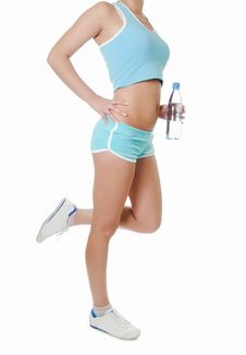 Free The Sports Girl In Shorts Royalty Free Stock Photography - 20461977