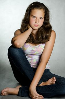 Free Portrait Of The Young Beautiful Girl Stock Photography - 20462062