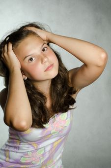 Free Portrait Of The Young Beautiful Girl Royalty Free Stock Photography - 20462067