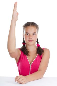 Free Young Girl With The Extended Hand Royalty Free Stock Photo - 20462145