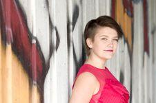 Free Young Woman Next To Graffiti Wall Stock Photo - 20462190
