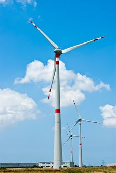 Free Three Wind Generator Electricity Stock Photography - 20462312