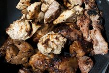 Chicken And Beef Kebabs, Mixed Stock Photography