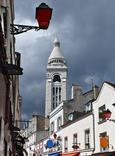 Free View On White Belfry Near Montmartre, Paris Royalty Free Stock Images - 20463869