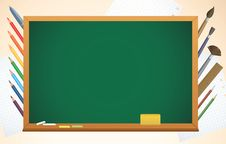 School Background With Blackboard Royalty Free Stock Photography