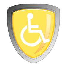 Free Disabled Sign Royalty Free Stock Photos - 20464848