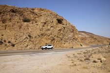 Desert Mountain - Israel, Dead Sea Road Royalty Free Stock Images