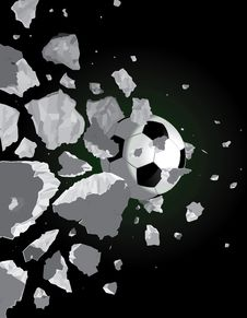 Free Soccer Ball And The Wall Royalty Free Stock Photo - 20465695
