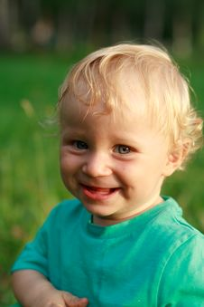 Free Positive Summer Baby Smile Royalty Free Stock Image - 20466086