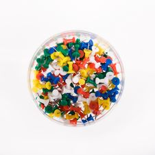 Multi Colored Push Pins Royalty Free Stock Image