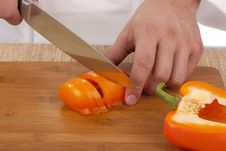 Cut Vegetables Stock Photo