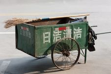 Chinese Style Cleaning Cart Stock Photos