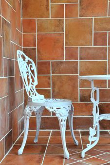 Free Carving Iron Table And Chair Stock Photos - 20467333