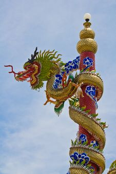 Chinese Dragon Statue Stock Photos