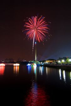 Colorful Fireworks Display Royalty Free Stock Photo