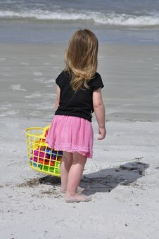 Beach Bag For Girls Royalty Free Stock Images