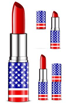 Free Usa Lipsticks Royalty Free Stock Photo - 20468065