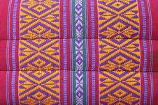 Thai Weave Fabric Pillow Royalty Free Stock Photos