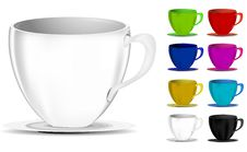 Free Colorful Coffee Cups Royalty Free Stock Photos - 20468408