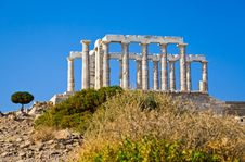 Free Poseidon Temple At Cape Sounion Near Athens Royalty Free Stock Photo - 20468855