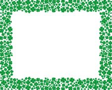 Clover Frame With Empty Space For Your Text Royalty Free Stock Images