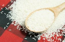 Free Rice Grain And Wooden Spoon Stock Images - 20469634