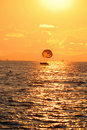 Free Boat With A Parachute At Sunset Stock Image - 20479851