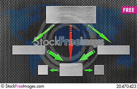 Blank organizational flow chart Stock Photo