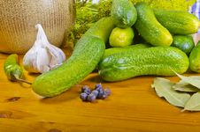 Free Polish Garlic Cucumbers (ingredients) Stock Image - 20470481