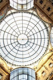 Gallery Vittorio Emanuele II, Milan Stock Photography
