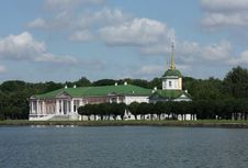 Kuskovo Estate. View Of The Ducal Palace Royalty Free Stock Photography