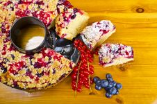 Currant Blueberry Cake Royalty Free Stock Images