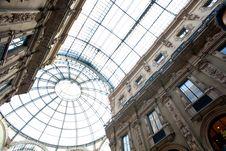 Gallery Vittorio Emanuele II, Milan Royalty Free Stock Photos