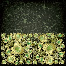 Free Abstract Grunge Background With Floral Ornament Stock Images - 20470984