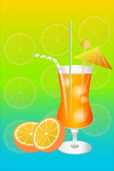 Free Orange Cocktail Stock Photography - 20471622