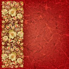 Free Abstract Grunge Background With Floral Ornament Royalty Free Stock Images - 20471729
