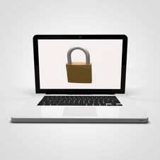 Laptop Security Stock Photos