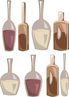 Free Bottles With Various Alcoholic Drinks Stock Photo - 20471990