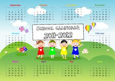 School Calendar 2011 2012 Royalty Free Stock Image