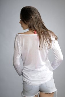 Free Back Of Young Woman Stock Images - 20473994