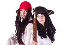 Free Pirate Man And Woman Royalty Free Stock Photos - 20474048