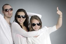 Free Teens Showing Ok Sign Stock Image - 20474111