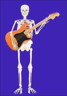 Vector Skeleton Of The Person With A Guitar Stock Photo
