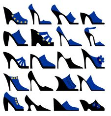 Free Fashionable Ladies Shoes Royalty Free Stock Images - 20475079