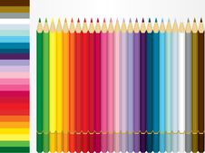 Free Color Pencil Set And Shade Sample Stock Images - 20475094